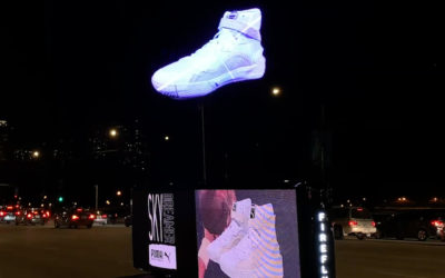 Puma brings targeted hologram ads to car roofs for NBA All-Star game